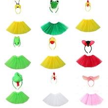 Animals Cosplay Costume Party-Dress Christmas Halloween Kids Set-Accessories Tutu-Skirt
