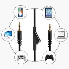 เปลี่ยนเสียง 3.5 มม.สายAuxสำหรับLogitech Astro A10 A40 A30 ชุดหูฟังTPE Muteรีโมทคอนโทรลสายไฟคุณภาพสูง