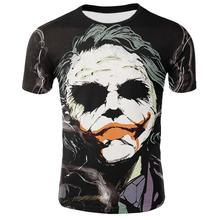 3D Joker T Shirt Men Summer O-neck Short Sleeve Men Joker Fa