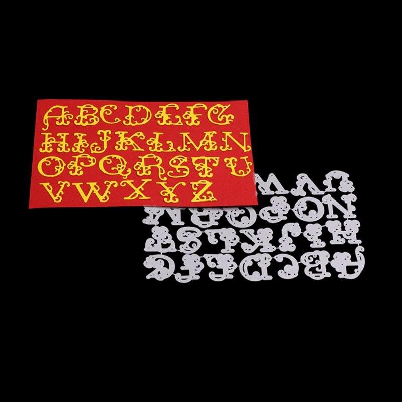 Squiggly Letter Metal Cutting Dies DIY Scrapbooking Paper Stamping Die Decor