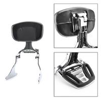 Artudatech Adjustable Sissy Bar Backrest w/ Luggage Rack For Softail Fat Boy 2007 2017 Motorcycle Accessories Parts