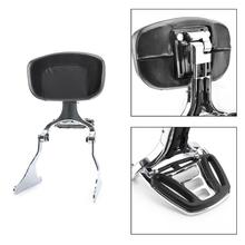Artudatech Adjustable Sissy Bar Backrest w/ Luggage Rack For