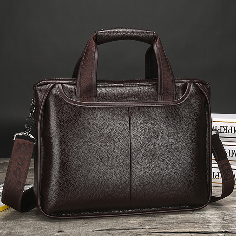 Men's Briefcase Soft Leather Laptop Shoulder Bags Men Briefcase Messenger Crossbody Bags For Male Handbags Bolso Hombre XA621C