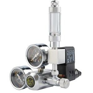 Image 2 - DIY Aquarium CO2 Regulator Magnetic Solenoid Kit Check Valve Fish Tank Accessories CO2 Control System Reactor Generator Set