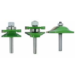 8mm Schacht 3Pcs Deur Panel Kast Tenon Router Bit Kast Rail & Stile Set Panel Raiser Ogief Frezen cutter voor Hout-in Frees van Gereedschap op