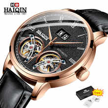 HAIQIN Mens Watches Top Luxury Brand Automatic Machinery Watch Men Double Tourbillon Fashion Waterproof Clock relogio masculino - DISCOUNT ITEM  48% OFF All Category