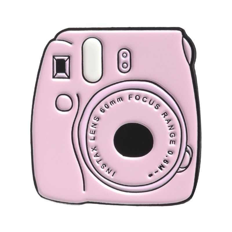 אופנה ורוד דיגיטלי מצלמה קומפקטי דיסק תרמיל נייד טלפון ספר סיכת סיכות עבור בגדי מתכת תגי סיכת עבור בנות מתנה
