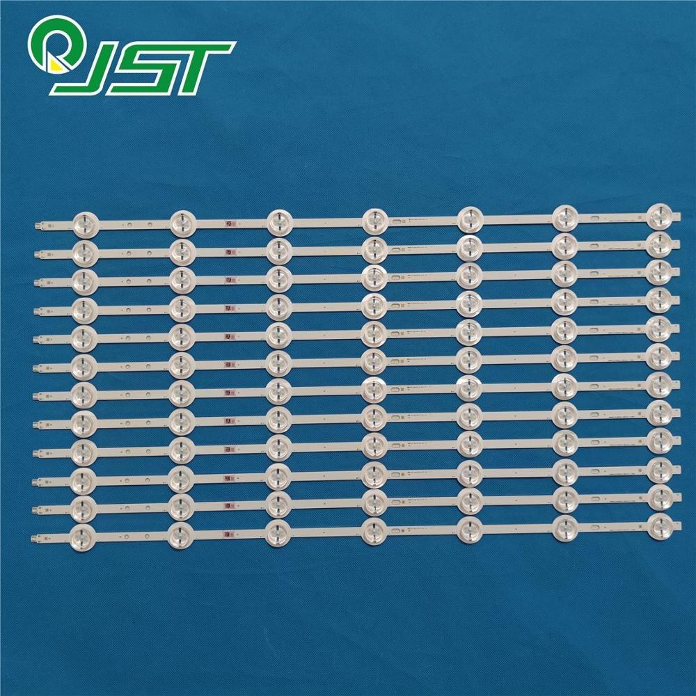 Loyal 95% New 12pcs/kit Led Strips For Vestel 55 Tv 4k 3d Smart 55ca9550 Svs550ab5 2014curved55 Fcom9 Lta550fw01 Excellent (In) Quality