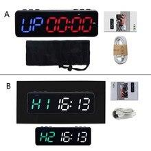 Chronomètre sans fil de minuterie de contrôle de Bluetooth de 1 pouce, minuterie d'entraînement de Sport de minuterie de remise en forme de Led avec l'aimant