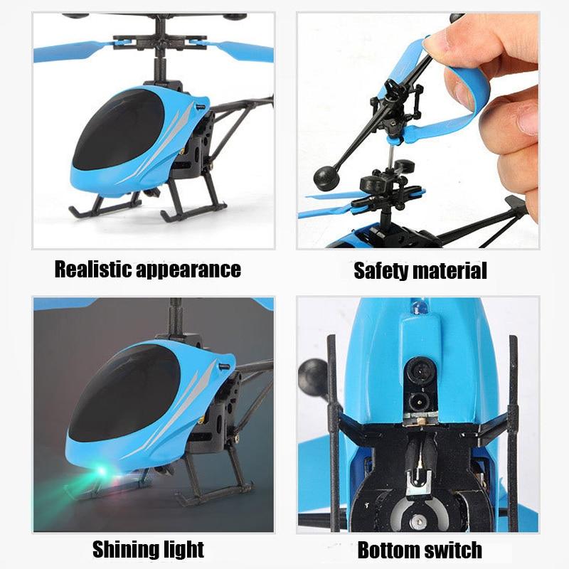 Mini RC Drone hélicoptère infrarouge Induction 2 canaux électronique drôle Suspension Dron avion quadrirotor petit drohne enfants jouets 4