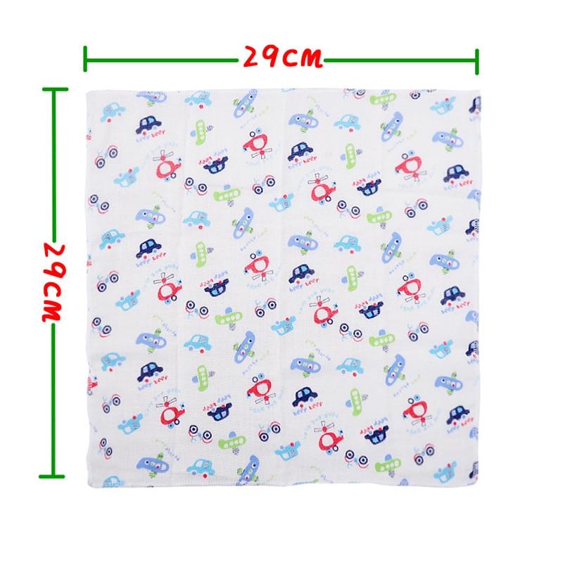 8pcs / lot 100% Cotton Newborn Baby Towel Saliva Towel Nursing Handuk - Penjagaan bayi - Foto 5