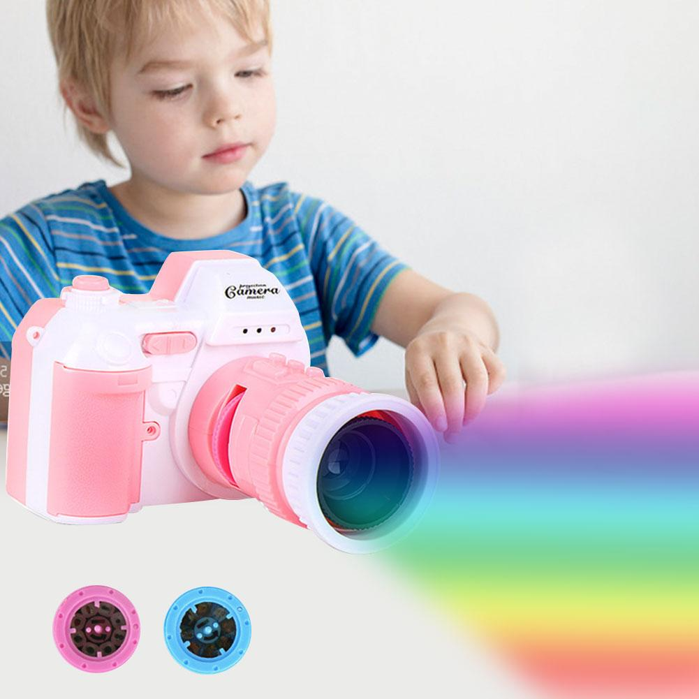 LED Camera Flashlight Projection Lamp Toy Children's Proyector Cuento Toy Children Education Adjustable Focal Length
