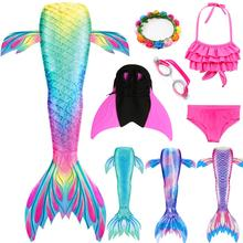 Little Mermaid Tails for Swimming Mermaid Costume Girls Swimsuit Kids Children Swimmable Dress Can Add Monofin or Fin