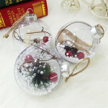Christmas Tree Decoration New Year Xmas Party Transparent Plastic Balls Hanging Ornament for DIY Children Gift Baubles