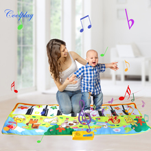 Musical-Mat Toys Piano Playing Carpet Early-Educational-Toys Animal-Voice Baby For Kids