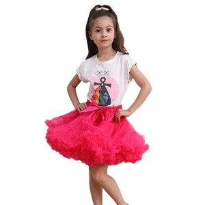 Image 3 - פרח בנות שמלות תחתוניות תחתונית קוספליי מפלגה קצרה שמלה לוליטה תחתונית בלט טוטו חצאית רוקבילי ילדים קרינולינה