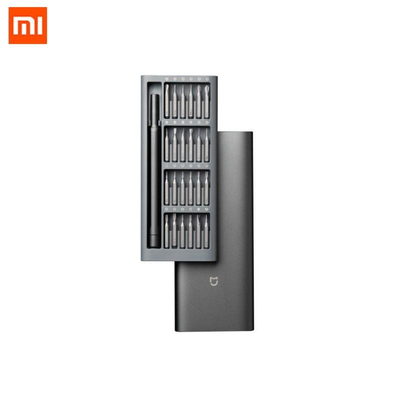 Xiaomi Mi Daily Use Screwdriver Kit Refined And Minimalist 24 Precision Magnetic Bits Alluminum Box Screw Driver For Smart Home|Smart Remote Control| - AliExpress