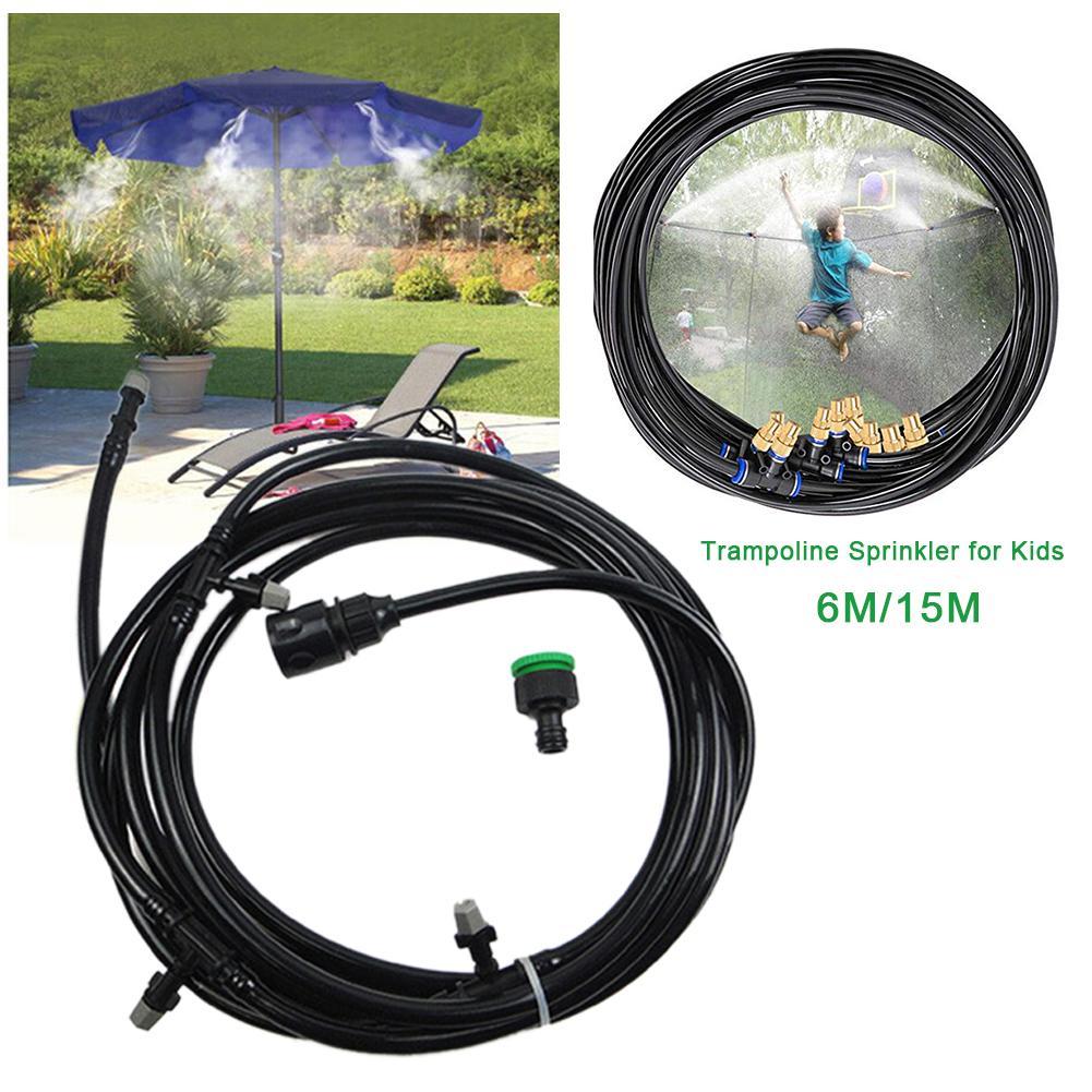 Trampoline Sprinkler Durable Safe Trampoline Sprinkler Multifunctional Water Cooling Pipe Toy For Outdoor Garden Yard Park