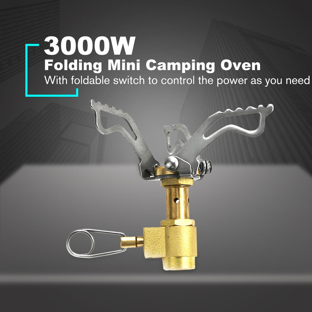 Outdoor Stove Folding Mini Camping Oven Survival Furnace Stove 3000W Pocket Picnic Cooking Gas Burner Cooker