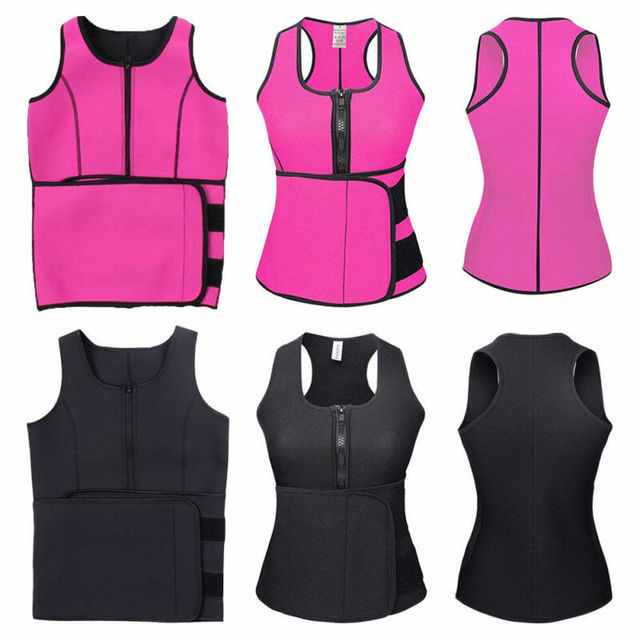 Women Waist Trainer Vest Tank Workout Slim Sweat Belt Body Shaper 1