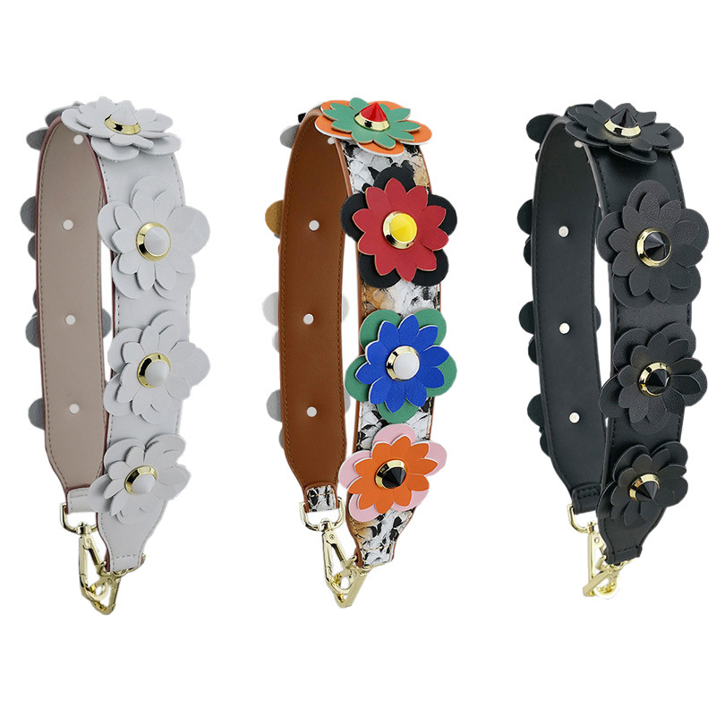 4cm Wide Short Bag Strap Women Handbag Belt Handle Strap Replacement Accessories Handbag Straps Flower Short Shoulder Strap