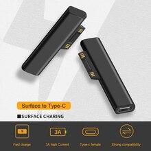 15V/3A USB C Weibliche PD Schnelle Lade Stecker Konverter für Microsoft Oberfläche Pro 3 4 5 6 gehen Oberfläche Buch 1 2 3 Typ C Power Adapter