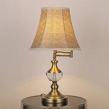 Европейский коммутационный Настольный светильник Хрустальная