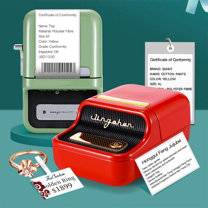 Принтер Niimbot B21 для термопечати этикеток, карманный мини принтер для печати этикеток, портативный принтер для телефонов под управлением Android и IOS