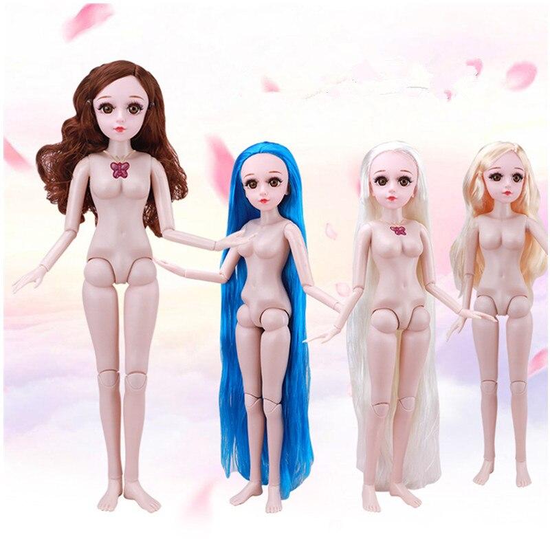 New 60 Cm Lori Doll Plain Naked Doll Real Eyes Long Eyelashes Multi-joint Music Princess Girl Puzzle Toy Birthday Gift