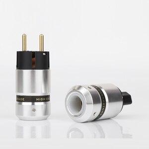 Image 4 - Preffair P081 مرحبا نهاية مطلية بالذهب Schuko قابس طاقة IEC موصل لكابل الطاقة الرئيسية لتقوم بها بنفسك