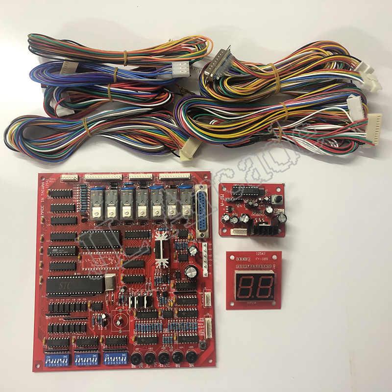 لعبة رافعة مقصورة ألعاب فيديو عدة لتقوم بها بنفسك آلة رافعة أجزاء لرافعة لعبة PCB فتحة لعبة مجلس عملة متقبل ، أزرار ، تسخير ، مخلب