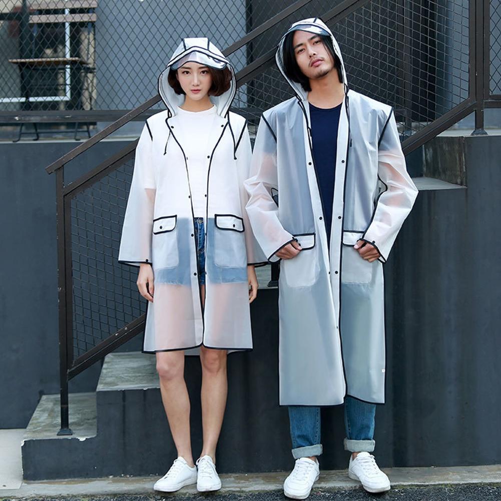 Couple Raincoat Fashion Lovers Transparent Women Rainwear EVA Men Raincoats Rain Coat Adult Hiking Rain Poncho For Cycling