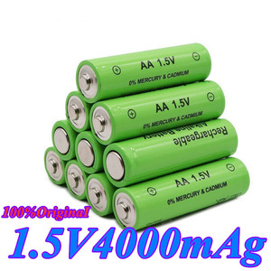1.5V new label 4000 mAh rechargeable battery AA 1.5 V. Rechargeable new Alcalinas battery for light emitting diode toy