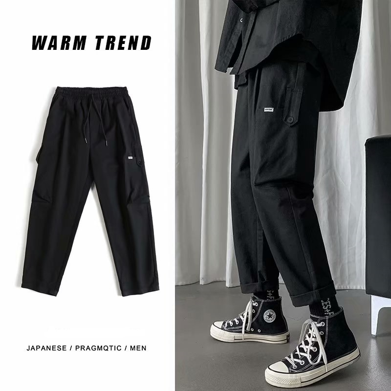 US $11.89 |Men Casual Japan  Streetwear Joggers Cargo Pants Men Woman Hip Hop Pockets Pants Male Oversize Autumn Trousers|Cargo Pants| |  - AliExpress