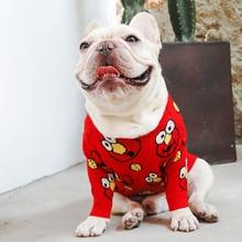 Czerwony sweterek dla psa z Elmo