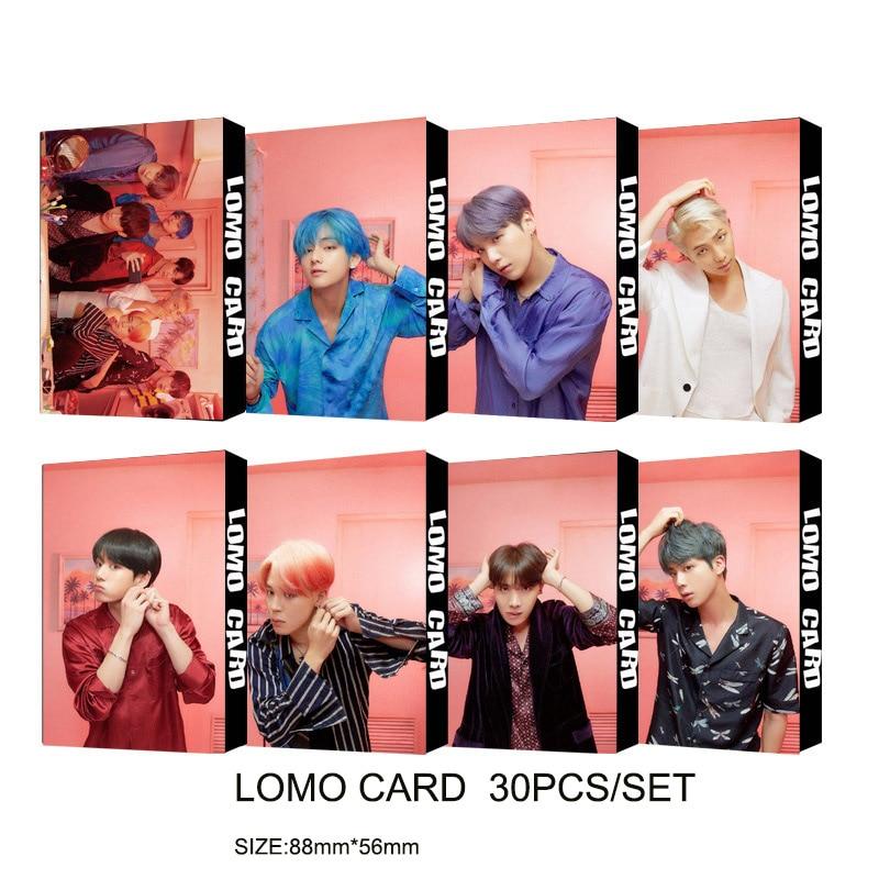 Bangtan 2019 New Album MAP OF PERSONA LOMO CARD Kpop Bangtan Boy Polaroid Photo 30pcs/set Photo Card