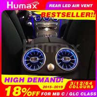 Salida de aire de turbina LED de asiento trasero para Mercedes C /E/ GLC clase w205 w213 x253 salida de aire LED sincronizada con luz ambiental