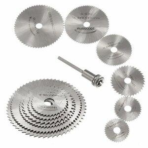 Image 1 - 7PCS Set di lame per sega Mini lame per seghe circolari HSS per dischi da taglio in plastica per metallo in legno accessori per utensili rotanti dischi da taglio