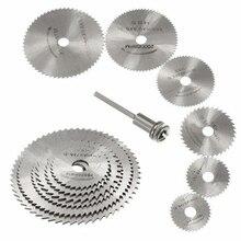 7Pcs Zaagblad Set Mini Hss Circulaire Zaagbladen Voor Hout Metaal Plastic Snijden Wiel Discs Rotary Gereedschap Accessoires cutter Schijven