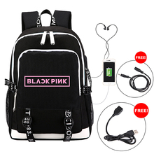 цены BLACKPINK Backpack Multi-function USB Charging for Teenagers Boys Student Girls School Bags Travel Luminous Bag Laptop Pack