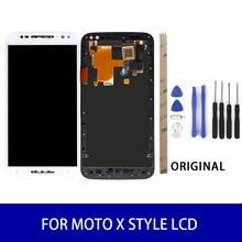 Orijinal Motorola Moto X Tarzı XT1575 XT1572 lcd ekran Çerçeve Ile dokunmatik ekran paneli Sayısallaştırıcı Meclisi Yedek Parçalar