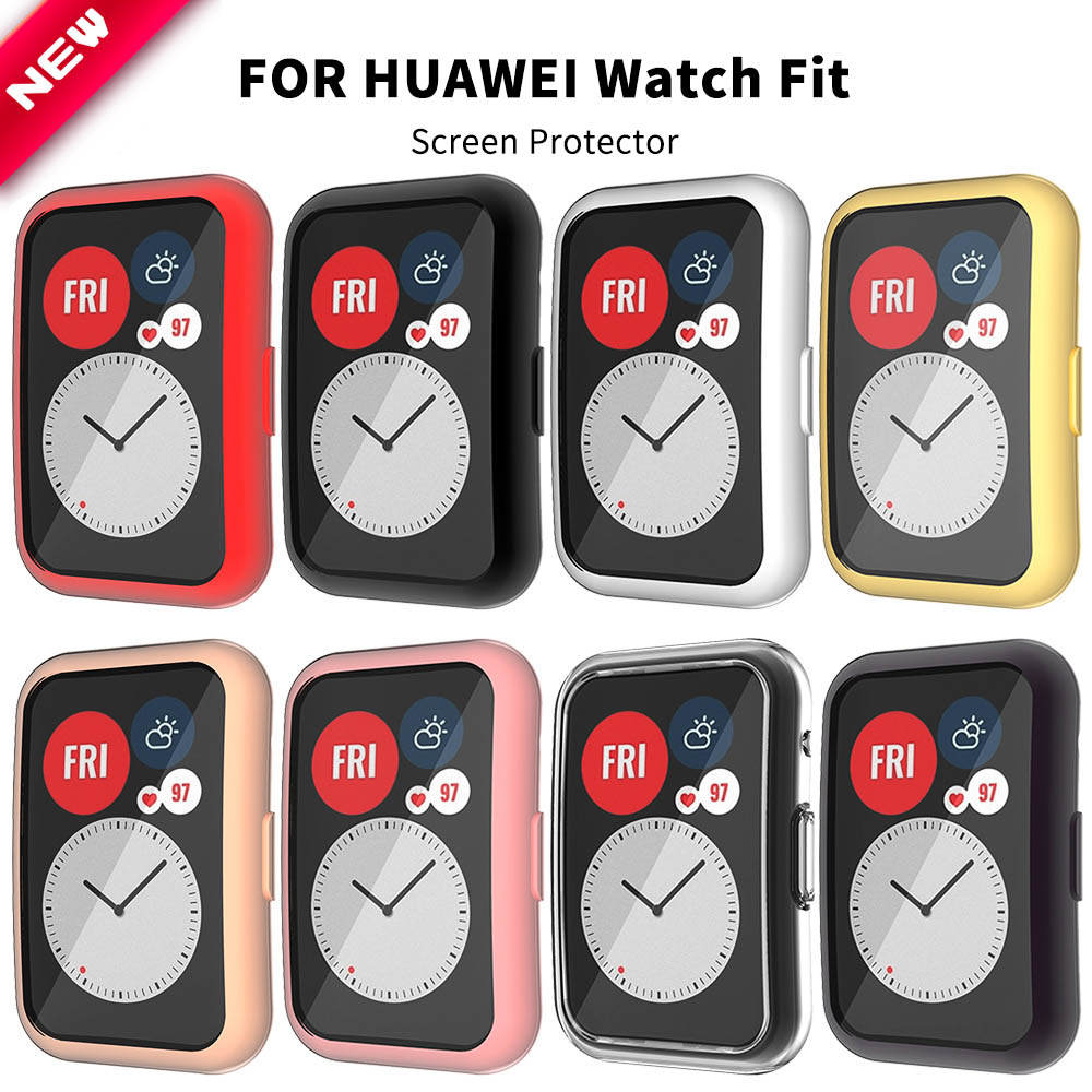 Case Screen-Protector Smartwatch-Accessories Watch-Fit Huawei Cover for Soft-Shell TPU
