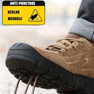 Image 3 - ความปลอดภัยรองเท้า STEEL TOE CAP รองเท้า Trekking รองเท้าผ้าใบรองเท้าผู้ชายน้ำหนักเบาทำงานรองเท้าทำลายรองเท้า