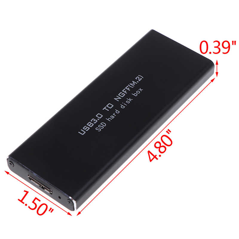 USB-C M.2 NGFF SSD SATA Hard Drive Enclosure B Chave para USB 3.0 Adapter