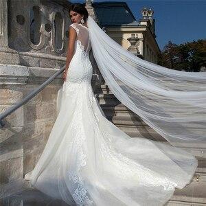 2019 blanco 2m 3m 5m cola larga 1 capa Catedral boda velos Velo con peine boda Vail accesorios mujeres corte borde