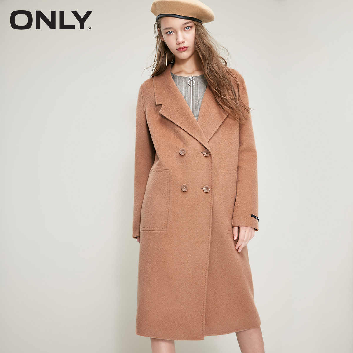 ONLY 2018 Women's Winter Long Double-faced Woolen Coat  | 11834S504