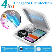 New 4 in 1 Multifunctional UV Sterilizer Disinfection Box for iPhone 11Pro/Xr/Xs Max Apple Watch Airpods Sterilization Box