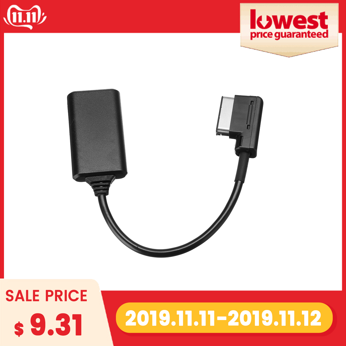 AMI MMI Bluetooth ModuleAdapter Aux Cable Wireless Audio Input Aux Radio Media Interface For Audi Q5 A5 A7 R7 S5 Q7 A6L A8L A4L