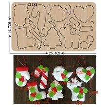 Новый Рождественский набор, деревянные штампы для скрапбукинга, искусственные штампы разных размеров