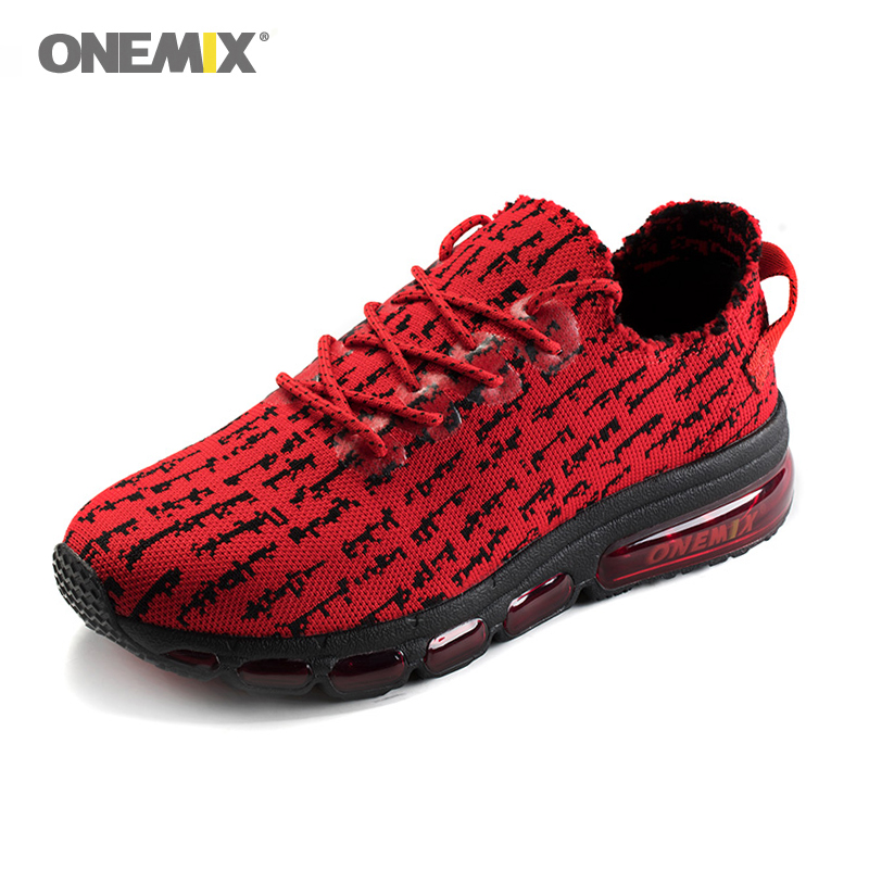 Onemix Men's Yeezys <font><b>350</b></font> Air Running <font><b>Shoes</b></font> Sneakers Lightweight Knit Mesh Vamp Sneakers Damping For Outdoor Jogging Walking <font><b>Shoes</b></font> image